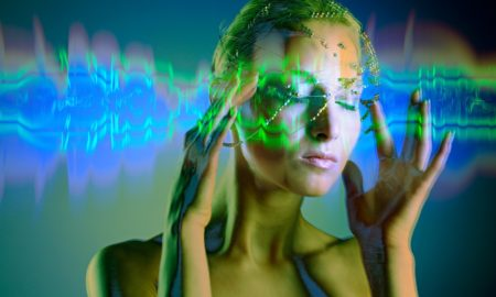 Image: 0102461440, License: Rights managed, MODEL RELEASED. Woman holding her temples, conceptual artwork., Property Release: No or not aplicable, Model Release: No or not aplicable, Credit line: Profimedia-Red Dot, Sciencephoto RM