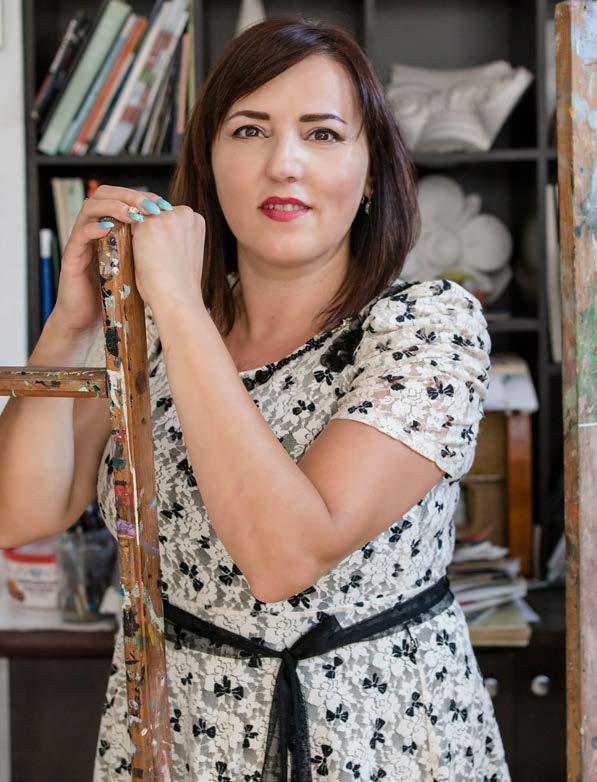 """Rivelina Boshnjaku, piktore, autore e tekstit shkollor """"Edukimi Figurativ"""""""